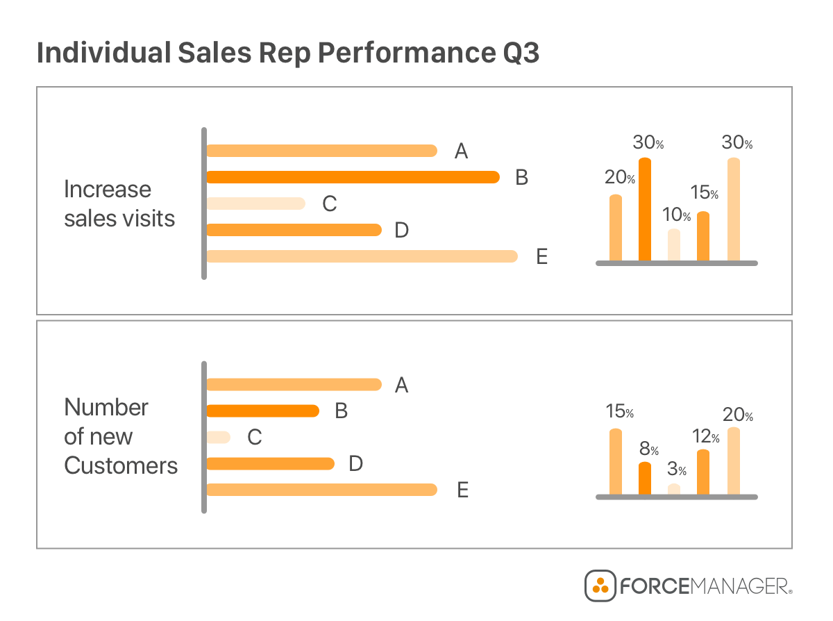 individual sales rep performance chart