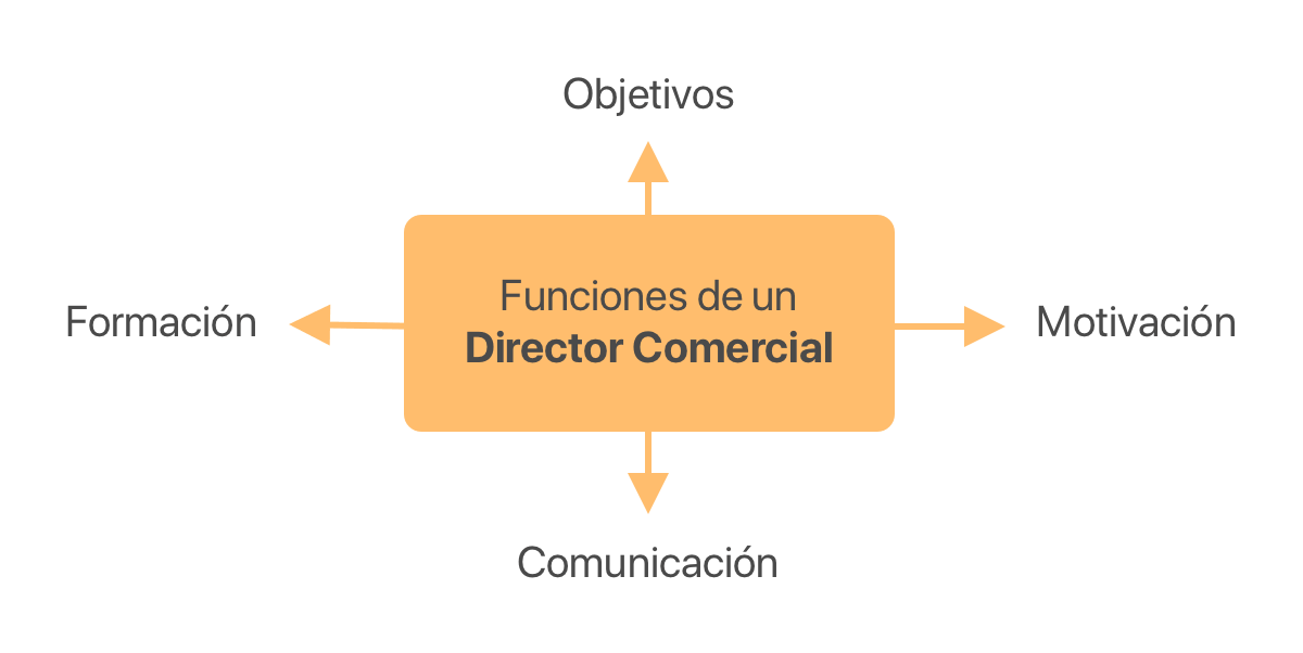 cuadro funciones de un director comercial