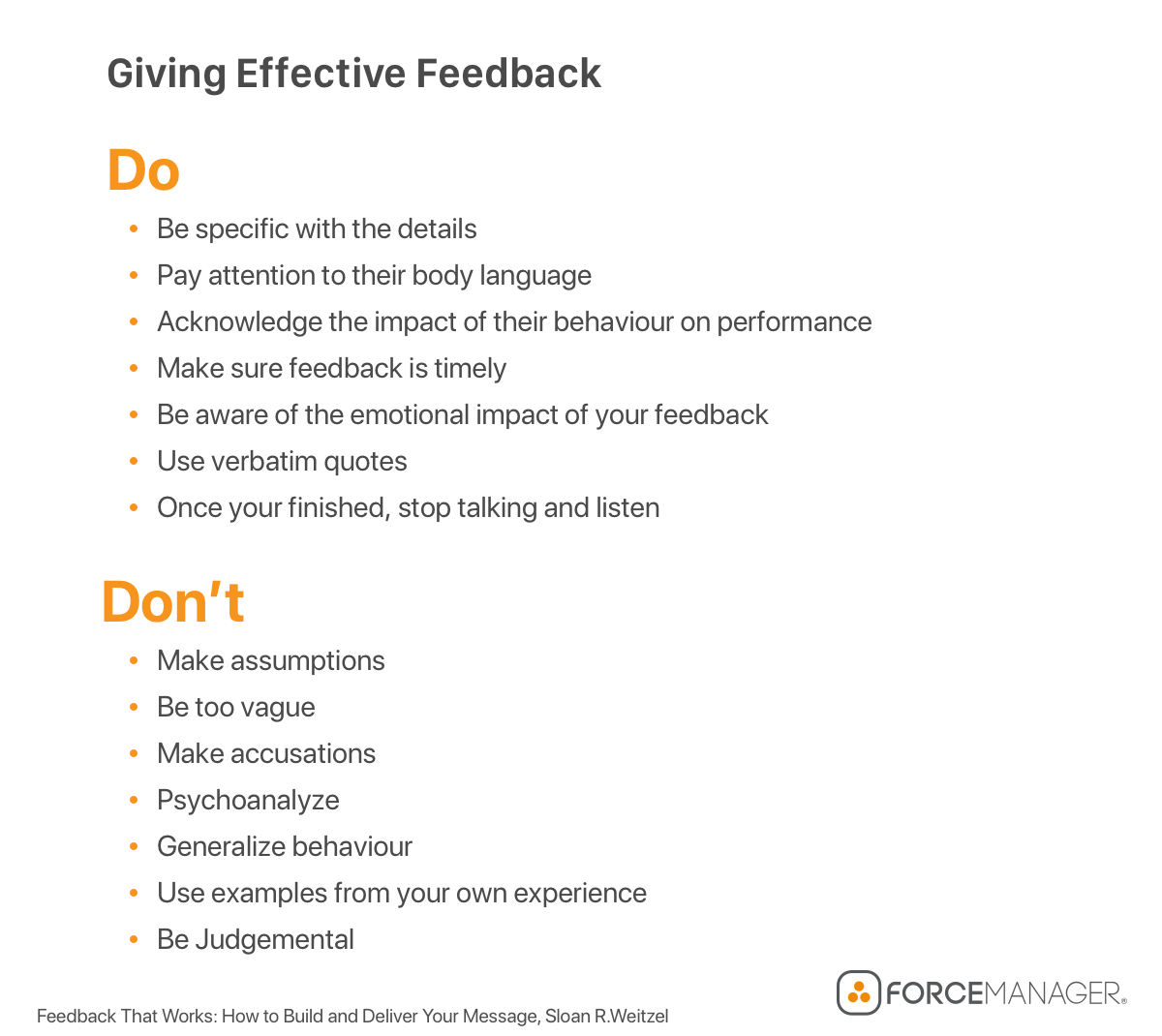 sales leadership qualities and giving effective feedback